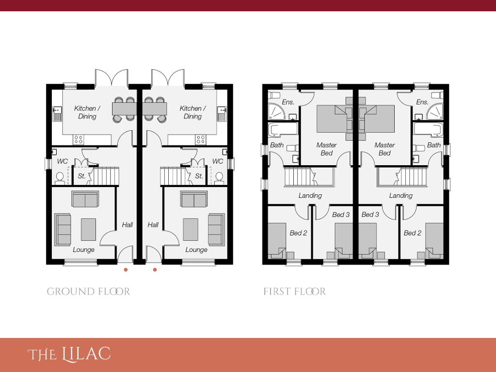Floorplan 1 of The Lilac (W/O Sunroom), Ro Rua, Moneynick Road, Toomebridge
