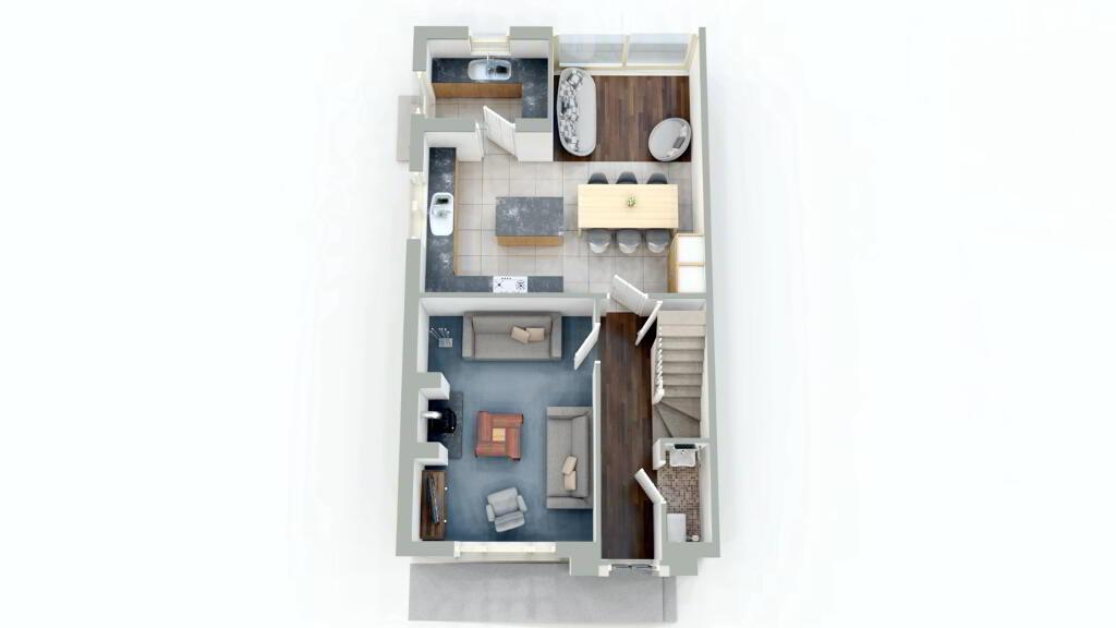 Floorplan 1 of Semi 5, New Development, Strabane Road, Castlederg
