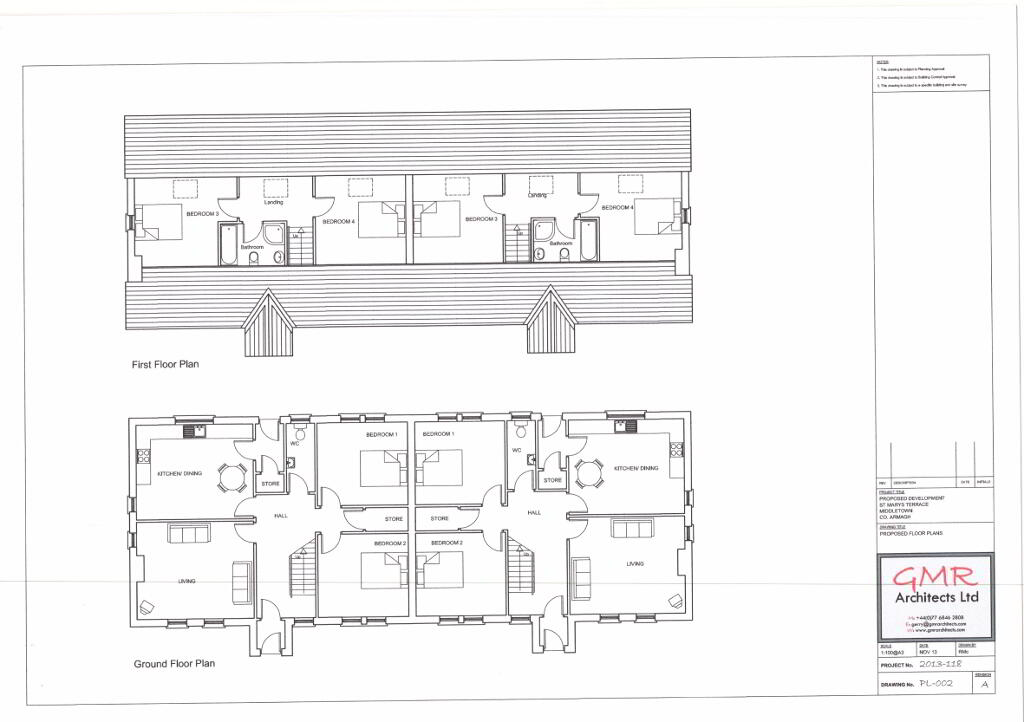 Floorplan 3 of Four Bedroom Semi-Detached Dwelling, St. Marys Terrace, St....Middletown, Armagh
