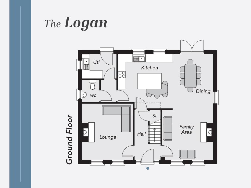 Floorplan 1 of The Logan, Limestone Meadows, Clarehill Road, Moira