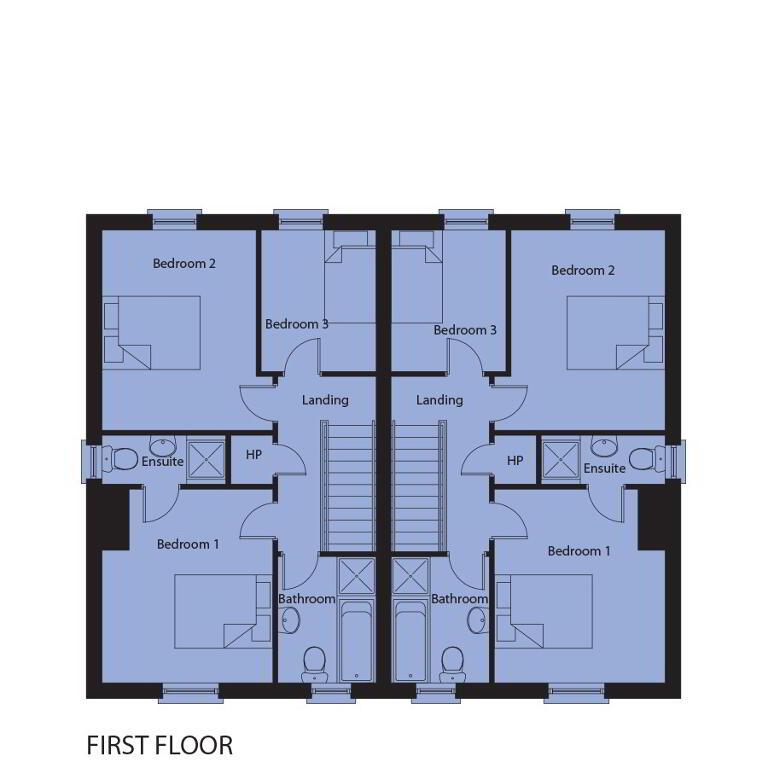 Floorplan 2 of House Type 3, Drum Meadow, Long Lane, Portadown