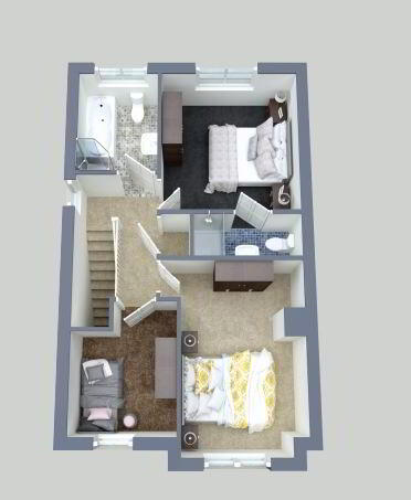 Floorplan 2 of House Type C, Carrick Hill, Carrickmore, Omagh