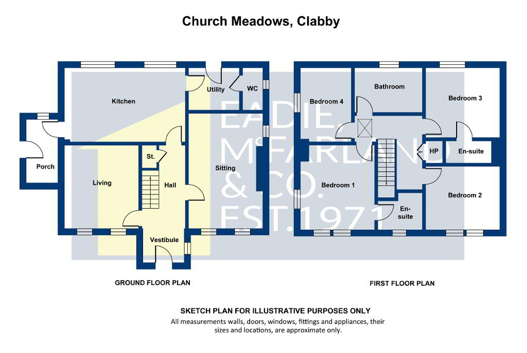 Floorplan 1 of Detached, Church Meadows, Clabby