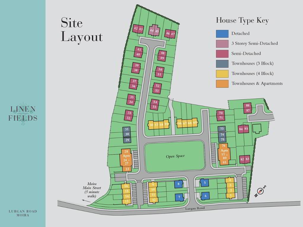 Floorplan 3 of Mid Townhouse 4 Block, Linen Fields, Lurgan Road, Moira