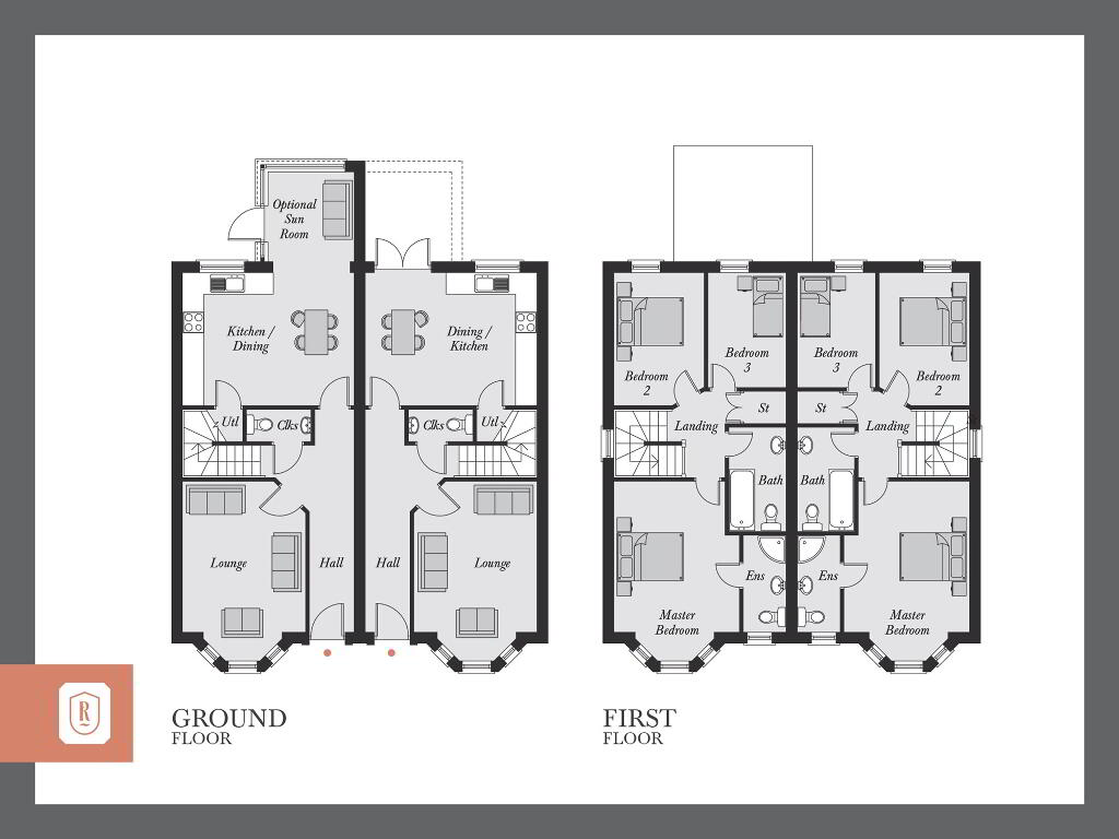 Floorplan 1 of The Furley, Rowanvale, Green Road, Conlig, Bangor