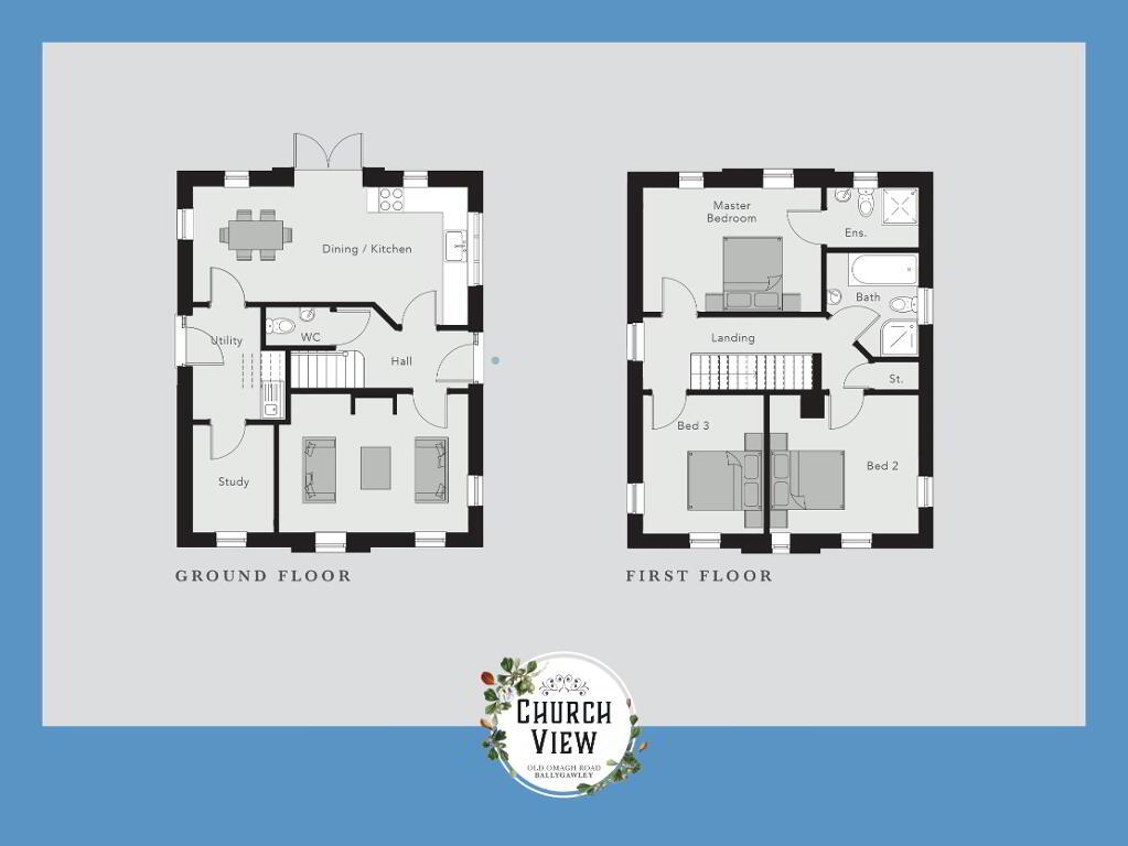 Floorplan 1 of The Gallion, Church View, Ballygawley, Omagh