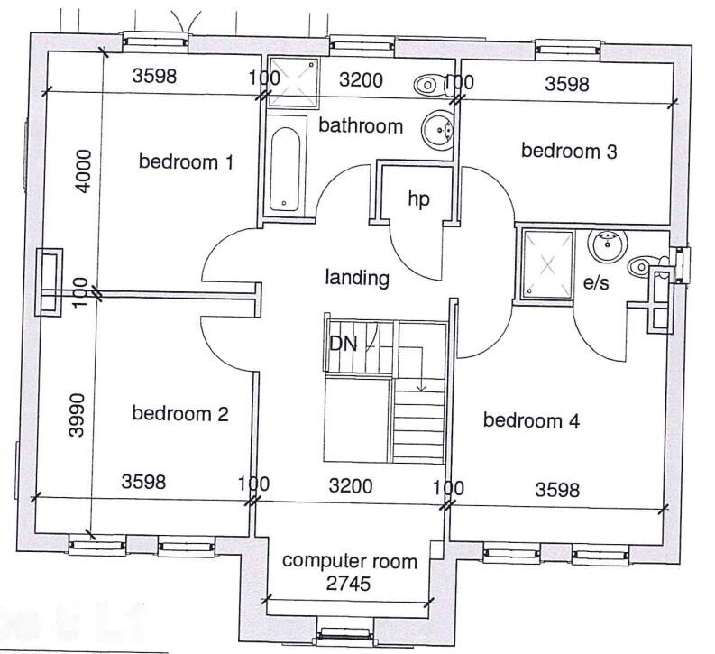Floorplan 2 of Type 5, Dervaghroy Manor, Church Road, Gortaclare, Omagh
