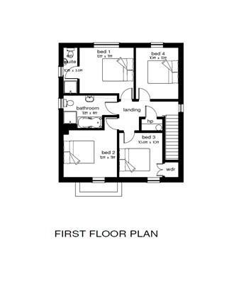 Floorplan 2 of 4 Bed Detached House, Millstone Drive, Scallen Road, Irvinestown