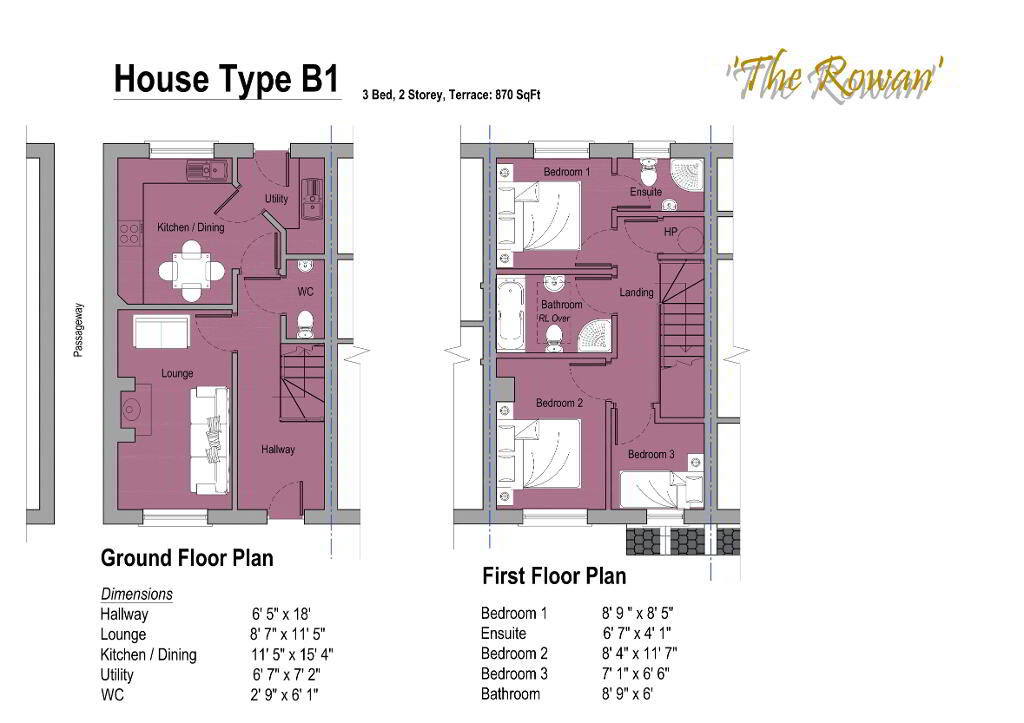 Floorplan 1 of The Rowan, Gortnessy Meadows, Derry/ Londonderry