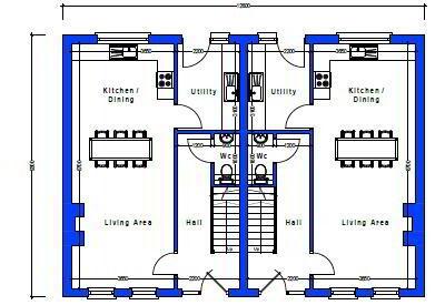 Floorplan 2 of House Type 22, Cloneen Crescent, Cloneen Crescent, Maghera