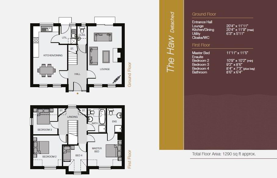 Floorplan 1 of The Haw (Detached), The Eagry, ** Nhbc Award Winning Site **, Bushmills