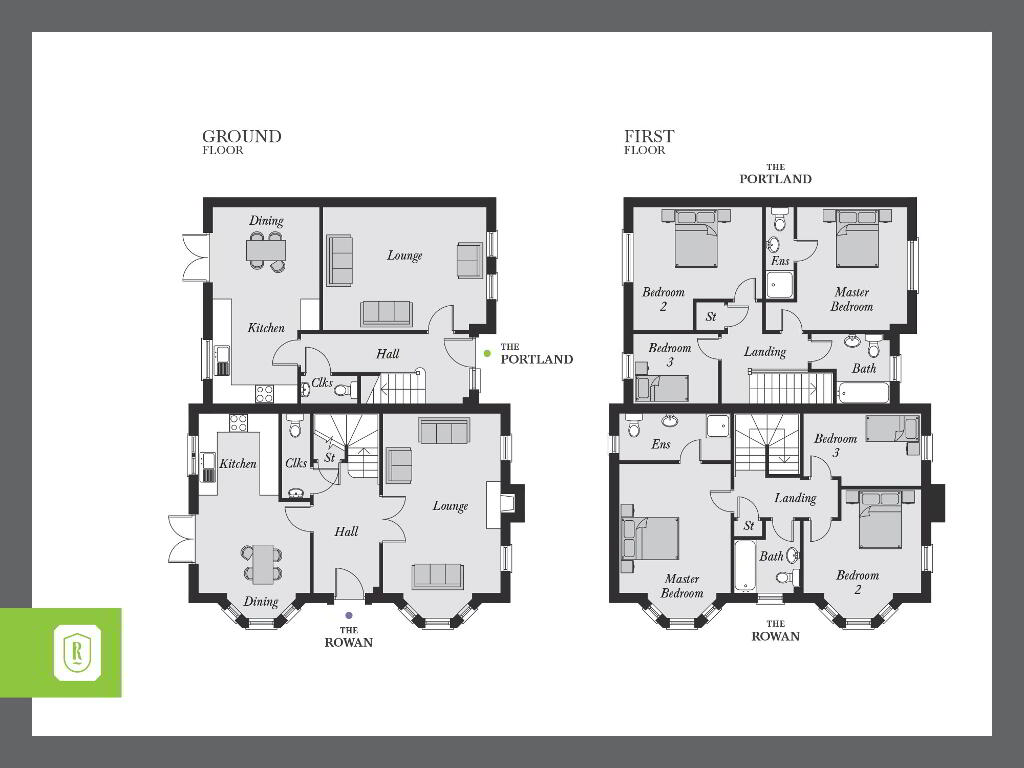 Floorplan 1 of The Portland, Rowanvale, Green Road, Conlig, Bangor