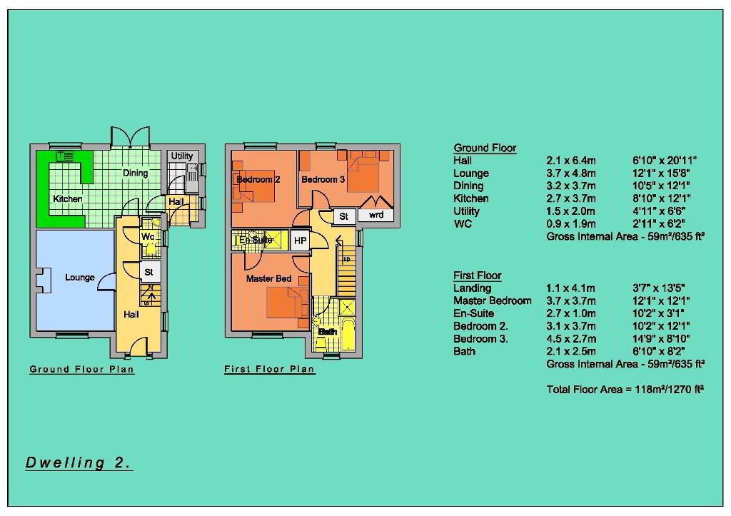 Floorplan 4 of Semi-Detached Houses, New Development, Circular Road, Omagh