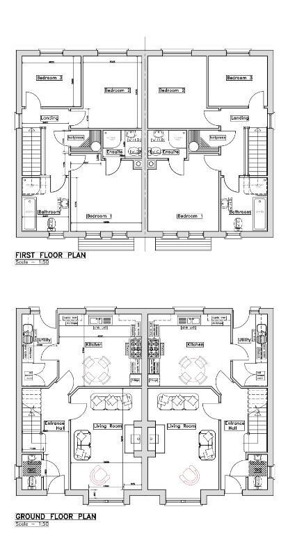 Floorplan 1 of House Type B, Cahore Meadows, Ederney