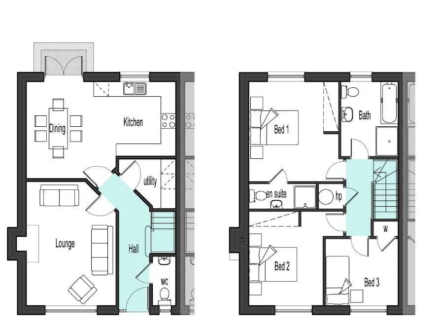 Floorplan 1 of Type 1, Glencam Road, Omagh