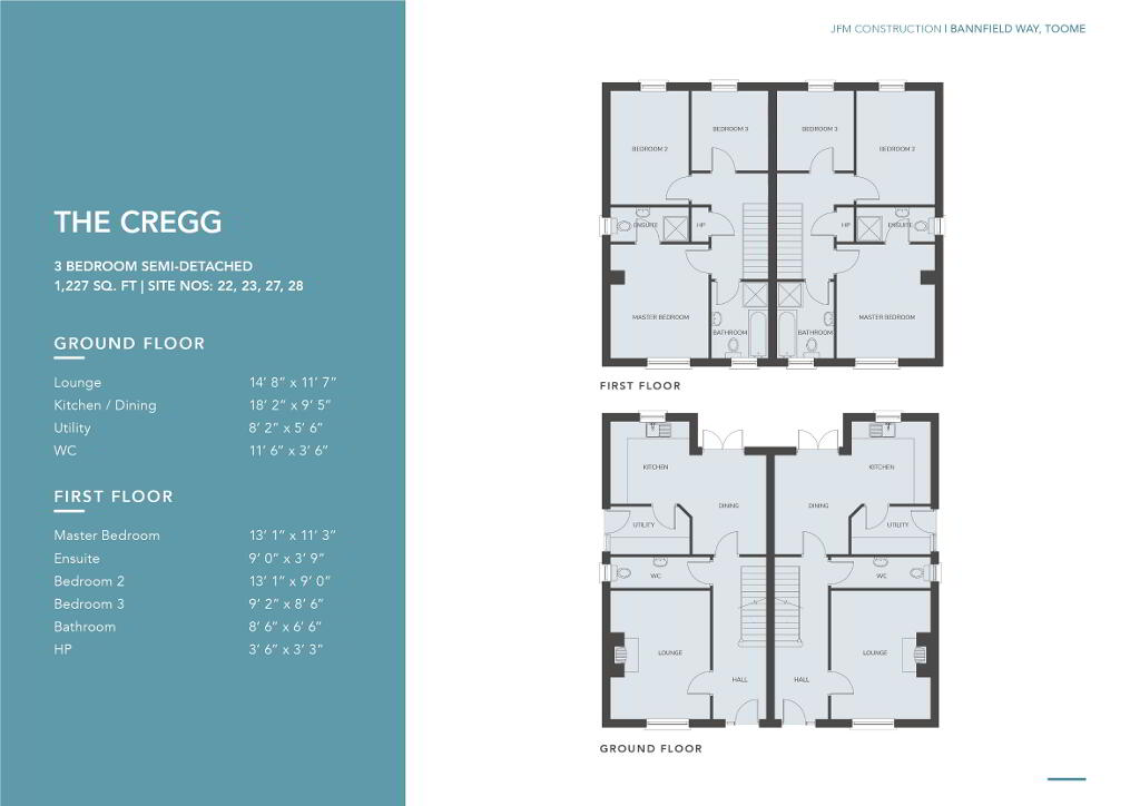 Floorplan 1 of The Cregg, Bannfield Way, Main Street, Toomebridge