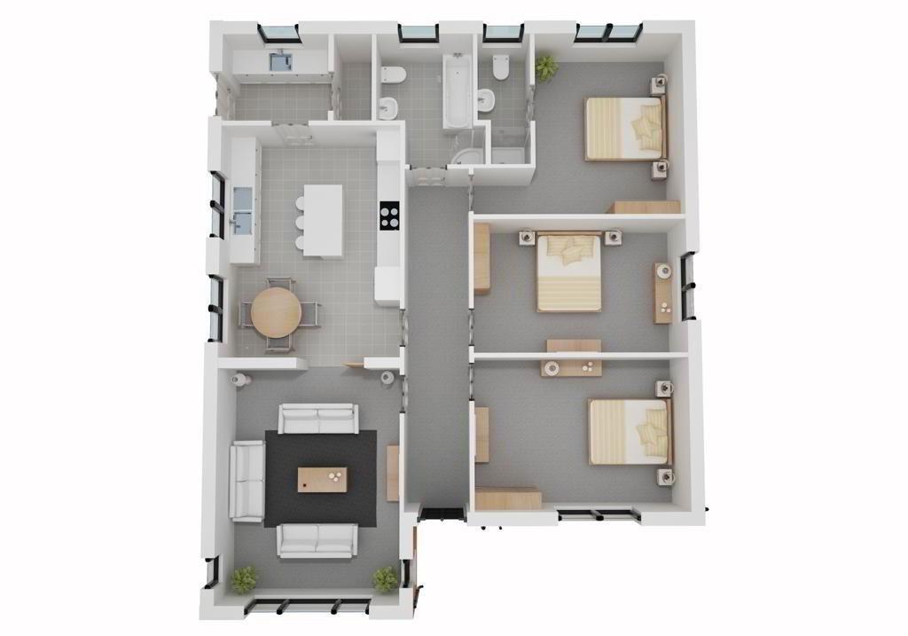 Floorplan 1 of The Swallow, Drumgallan Crescent, Enniskillen