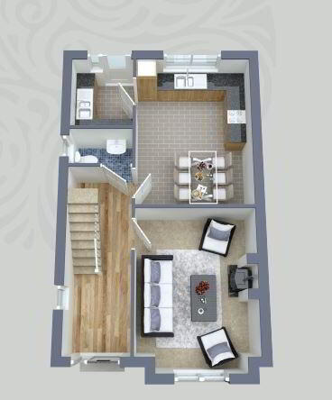 Floorplan 1 of House Type C, Carrick Hill, Carrickmore, Omagh