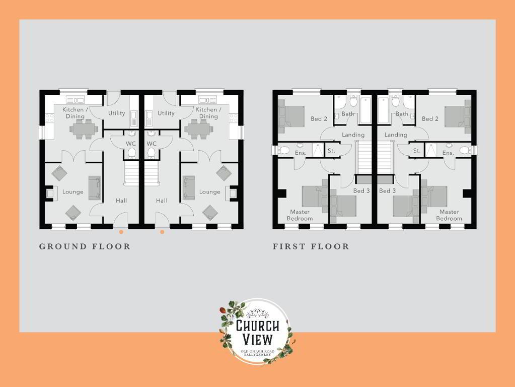 Floorplan 1 of The Knockanbane, Church View, Ballygawley, Omagh