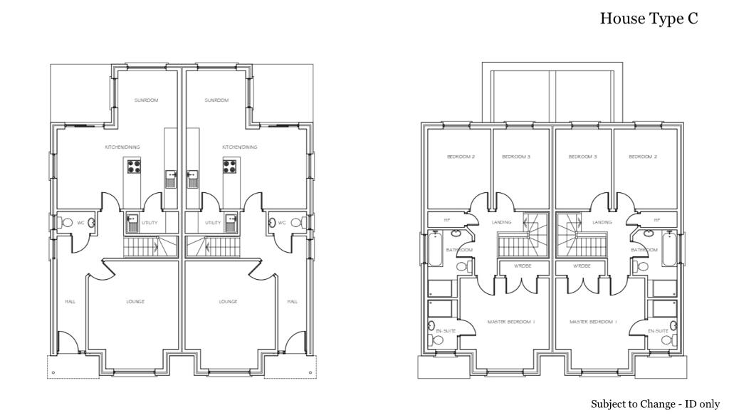 Floorplan 1 of House Type C, Coolreaghs Manor, Cookstown