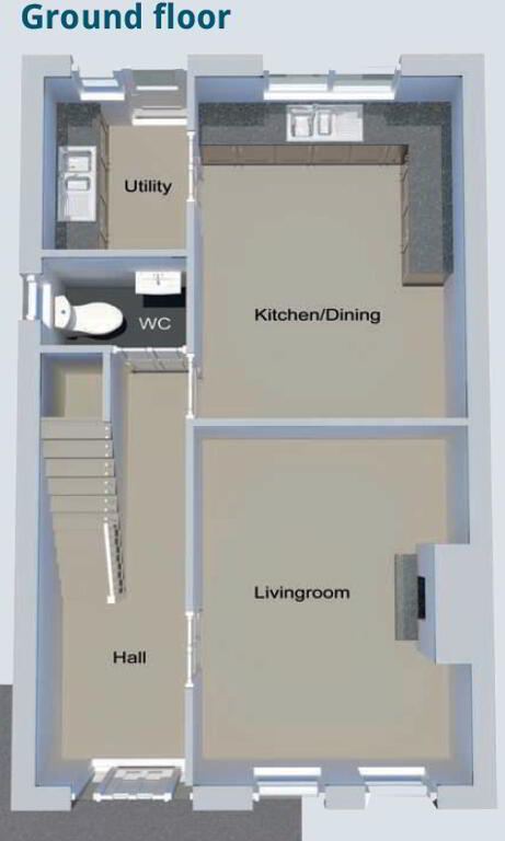 Floorplan 1 of Semi-Detached Type C, Edenderry Drive, Maydown Road, Benburb