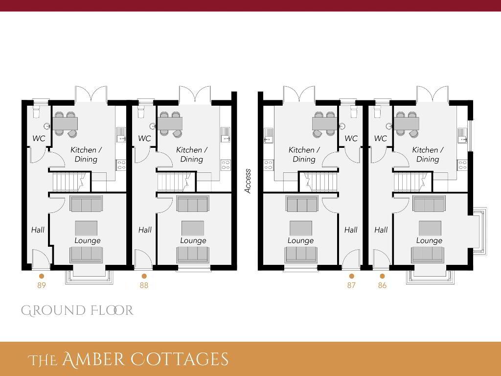 Floorplan 1 of The Amber Cottages, Ro Rua, Moneynick Road, Toomebridge