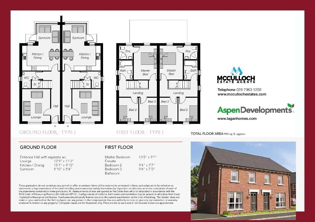 Floorplan 2 of The Jasmine, Ro Rua, Moneynick Road, Toomebridge