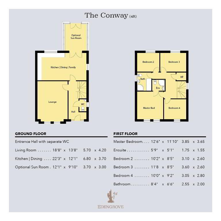 Floorplan 1 of The Conway (4R), Edengrove, Edengrove, Ballynahinch