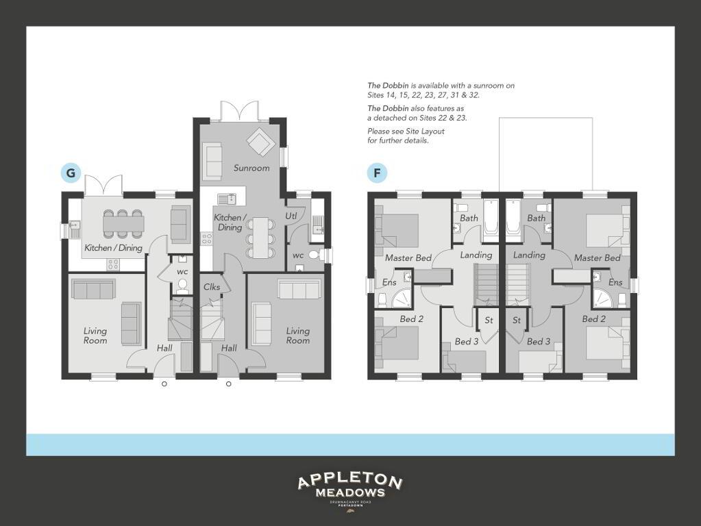 Floorplan 1 of The Dobbin (S), Appleton Meadows, Drumnacanvy Road, Portadown