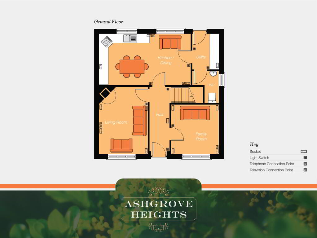 Floorplan 1 of The Rathgar, Ashgrove Heights, Ashgrove Heights, Portadown