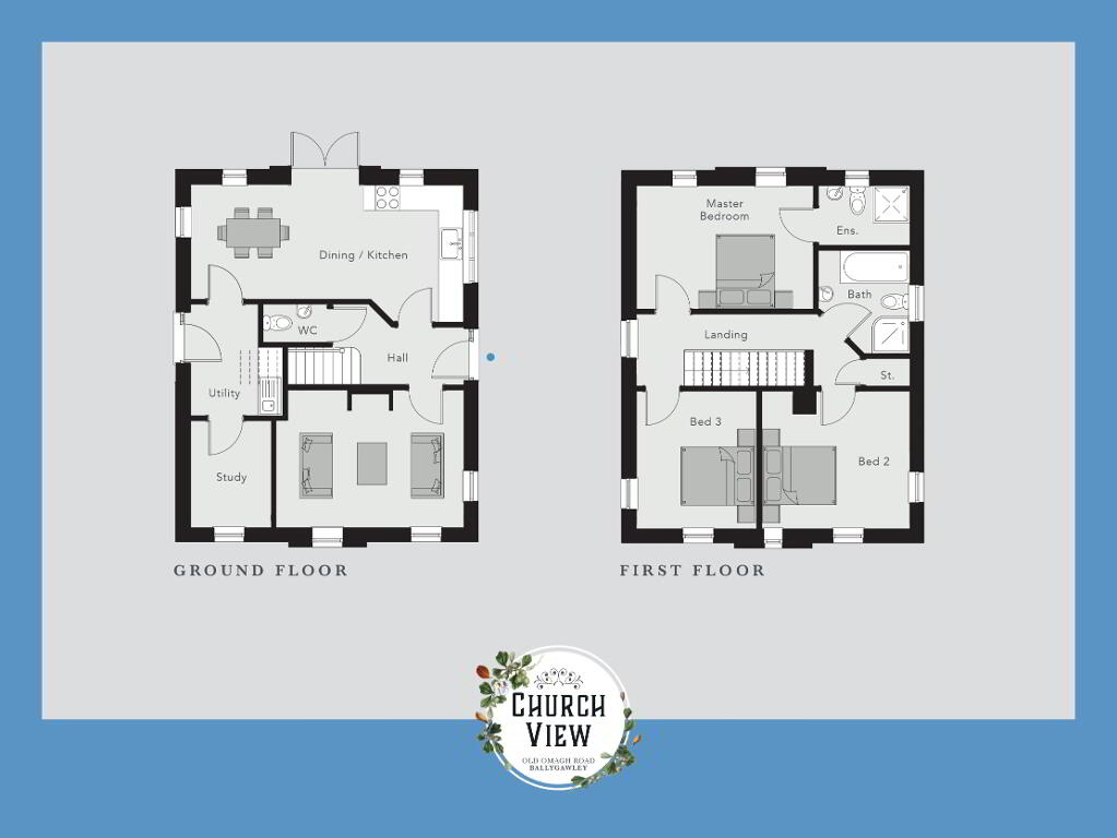 Floorplan 1 of The Mullaghmore, Church View, Ballygawley, Omagh