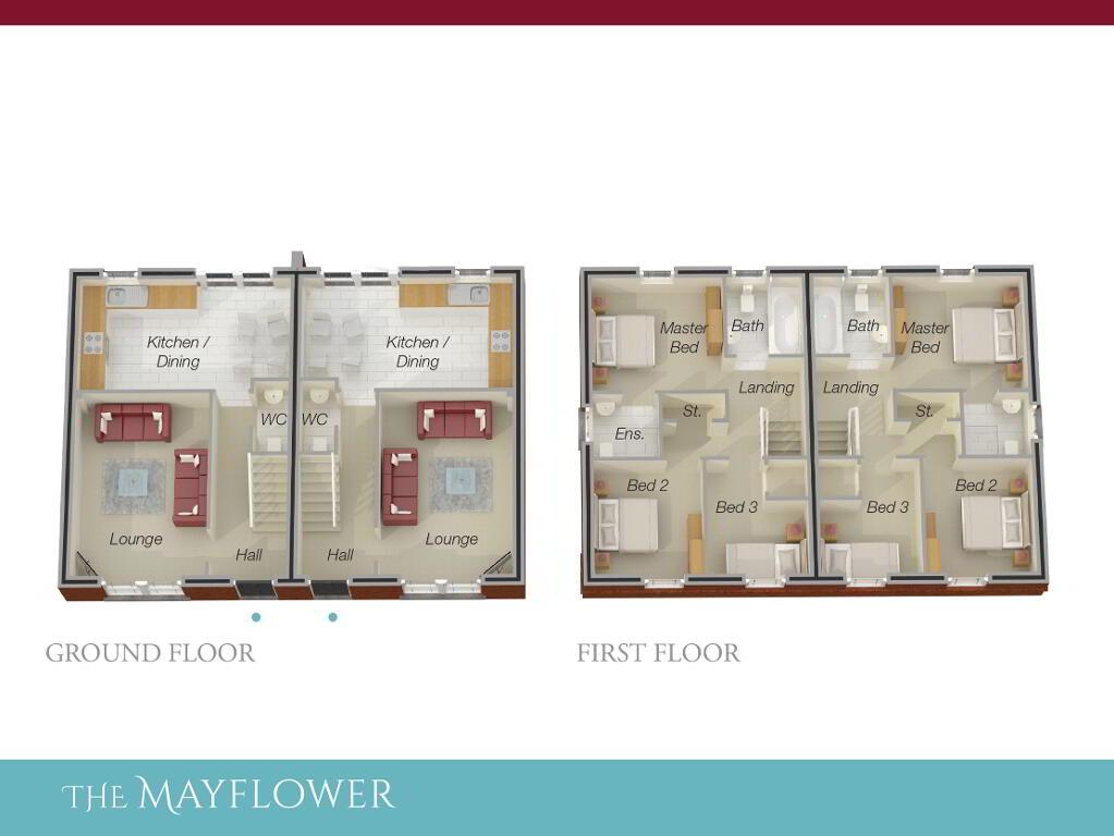 Floorplan 1 of The Mayflower (W/O Sunroom), Ro Rua, Moneynick Road, Toomebridge
