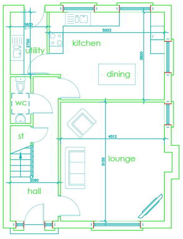 Floorplan 1 of Three Bedroom Detached (Htb), Monree Hill, Banbridge, Donaghcloney