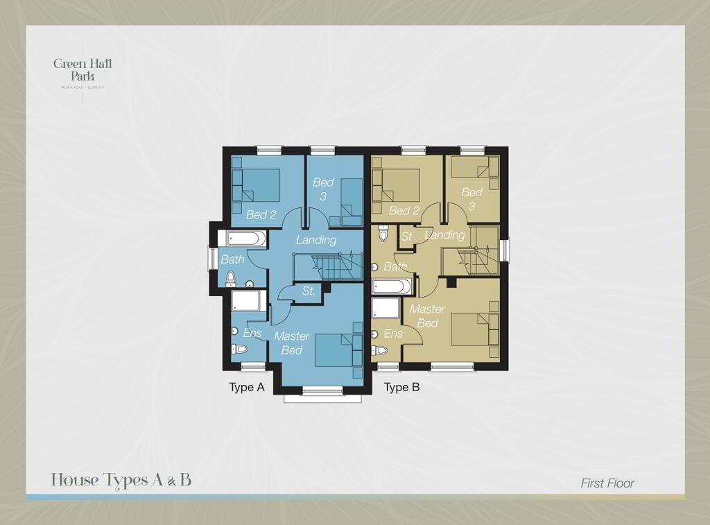 Floorplan 2 of House-Type A, Green Hall Park, Main Street, Glenavy