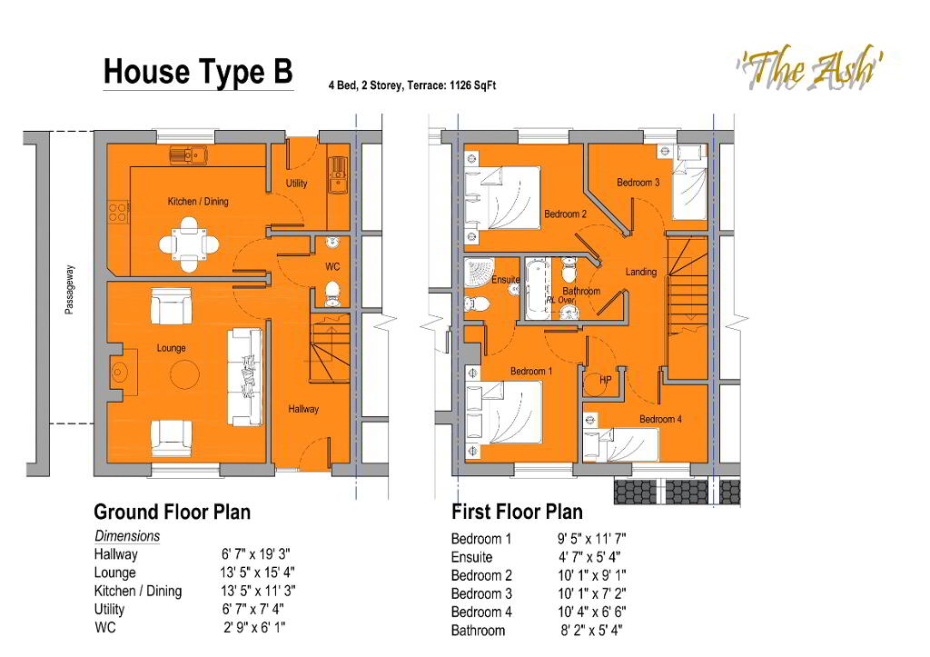 Floorplan 1 of The Ash, Gortnessy Meadows, Derry/ Londonderry