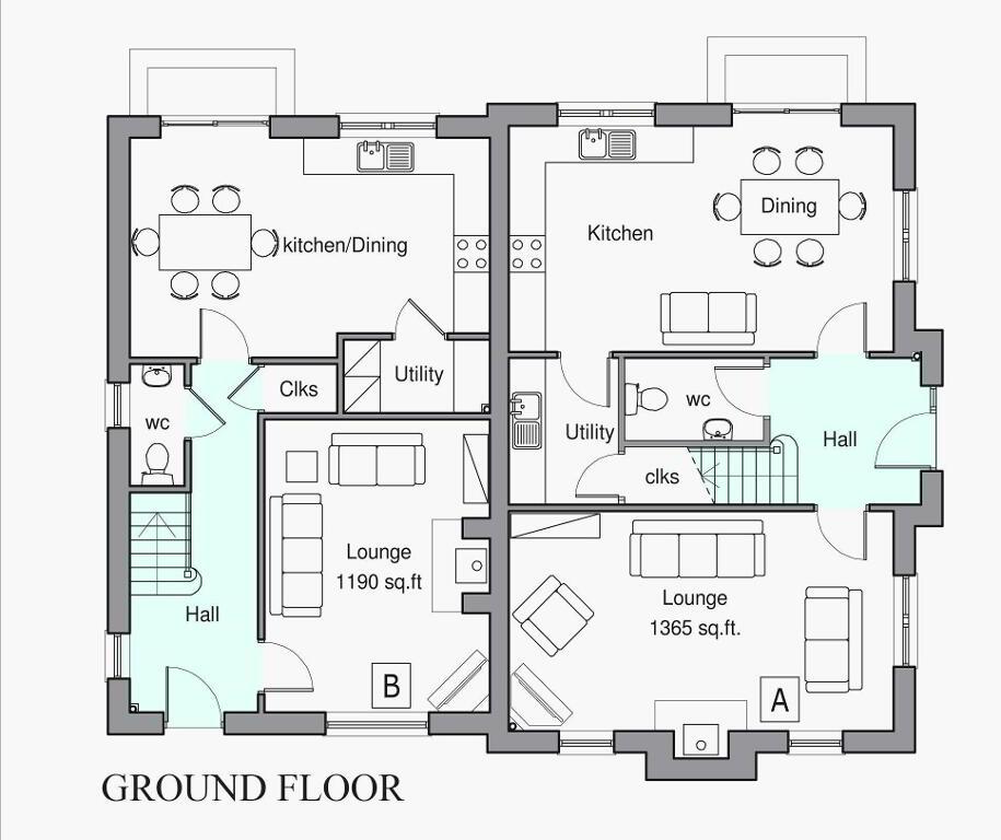 Floorplan 1 of Semi 2B, Quiggery Meadows, Tattyreagh Road, Omagh