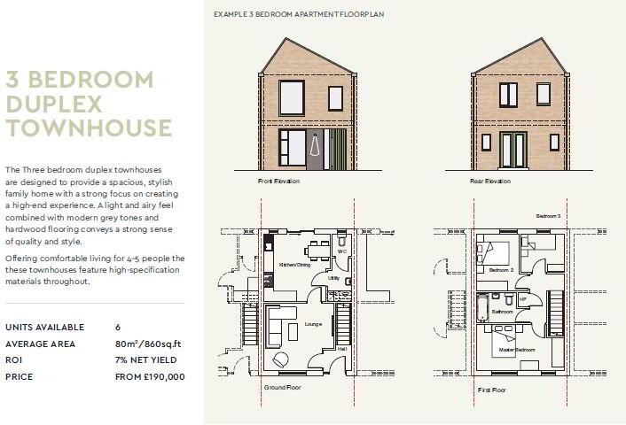 Floorplan 1 of 3 Bedroom Townhouse, Gardiner Square, Belfast City Centre, Belfast