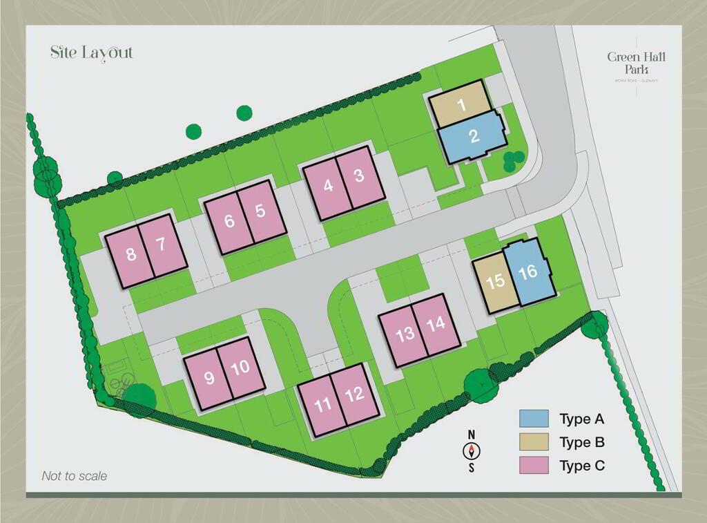 Floorplan 3 of House-Type A, Green Hall Park, Main Street, Glenavy