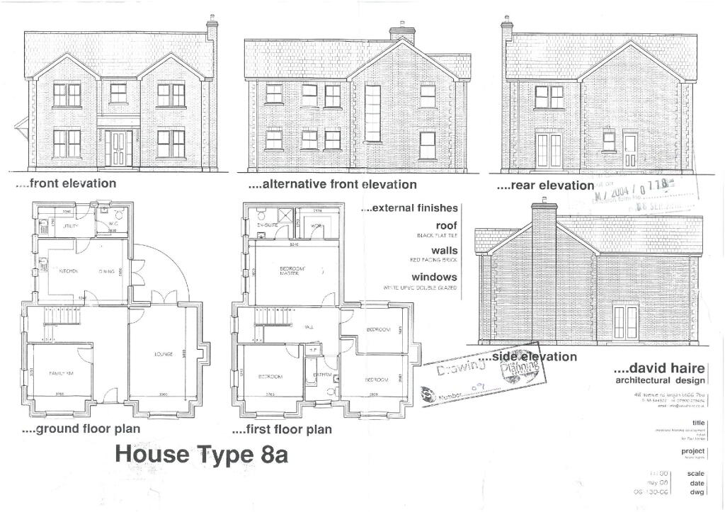 Floorplan 1 of House Type 8A, Shanmoy Downs, Eglish, Dungannon