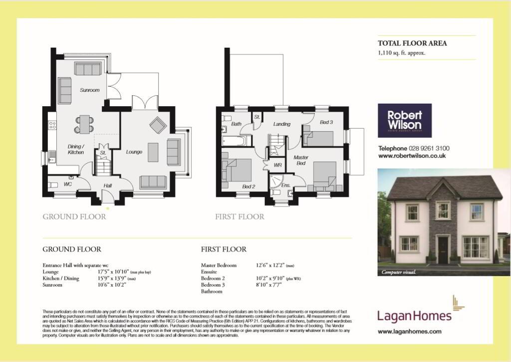 Floorplan 1 of The Roseworth Type Lh2.4 (L1A), Saint Inns Of Moira, Moira
