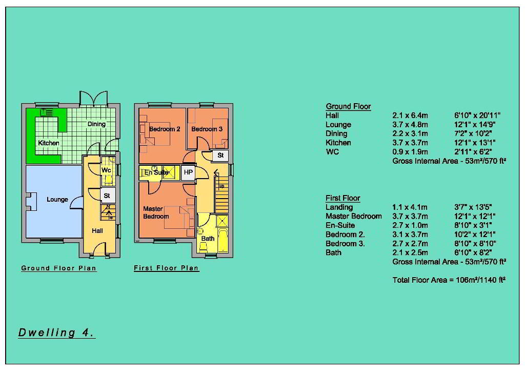Floorplan 6 of Semi-Detached Houses, New Development, Circular Road, Omagh