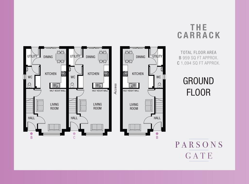 Floorplan 1 of The Carrack C, Parsons Gate, Armagh Road, Portadown