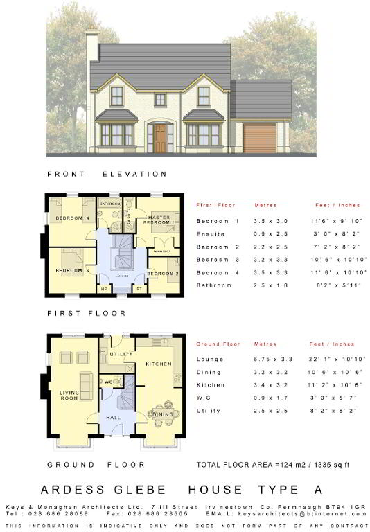 Floorplan 1 of House Type A, Ardess Glebe, Ardess, Kesh