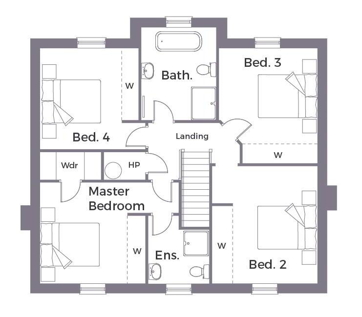 Floorplan 2 of Detached 1A - Option 1, Crevenagh Hall, Omagh