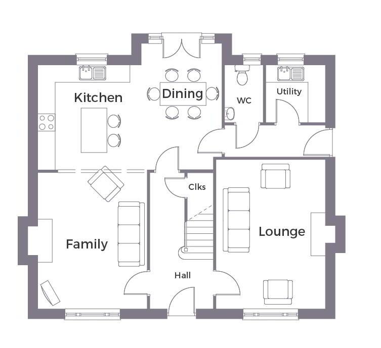 Floorplan 1 of Detached 1A - Option 1, Crevenagh Hall, Omagh