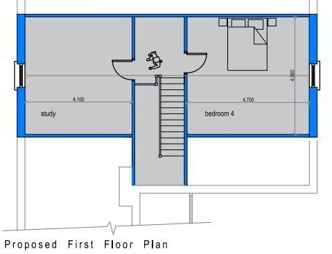 Floorplan 3 of House Type B, The Willows, Ballinamullan Road, Killyclogher, Omagh