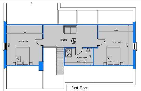 Floorplan 3 of House Type A, The Willows, Ballinamullan Road, Killyclogher, Omagh