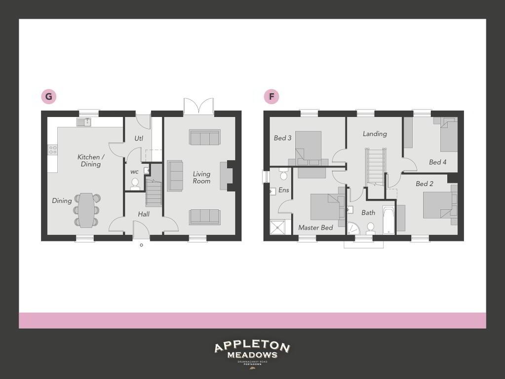 Floorplan 1 of The Brooke, Appleton Meadows, Drumnacanvy Road, Portadown