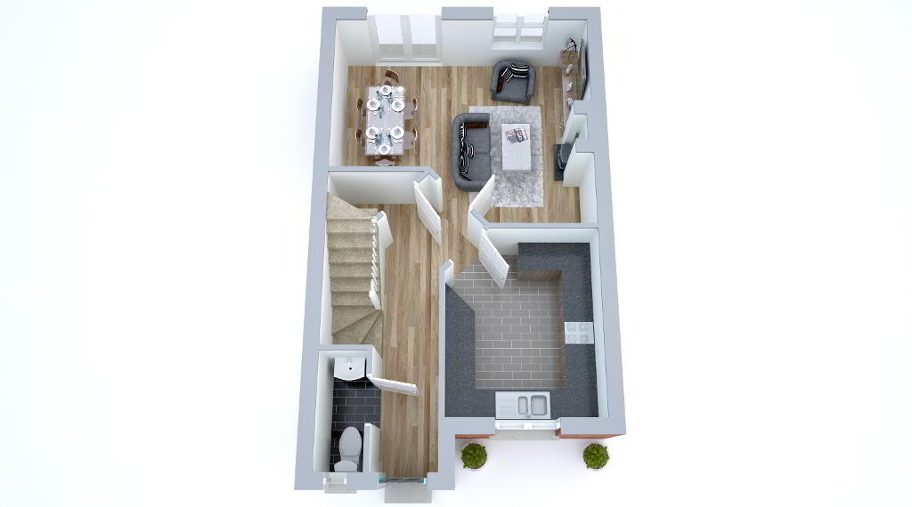 Floorplan 1 of The Oak 2, Birch Hall, The Birches, Portadown