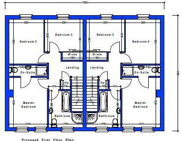 Floorplan 3 of House Type 22, Cloneen Crescent, Cloneen Crescent, Maghera